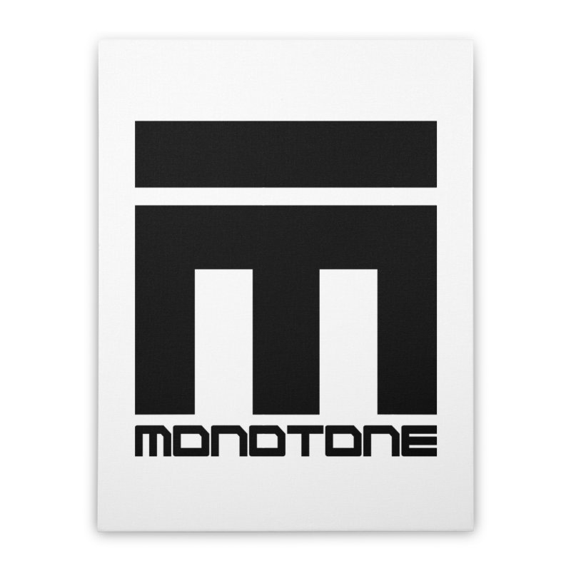 Monotone Logo Black Large Home Stretched Canvas by Monotone Apparel
