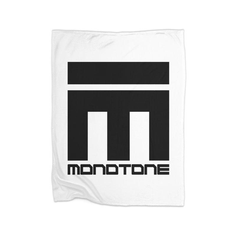 Monotone Logo Black Large Home Blanket by Monotone Apparel