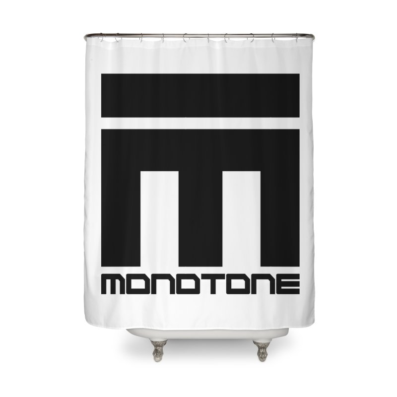 Monotone Logo Black Large Home Shower Curtain by Monotone Apparel