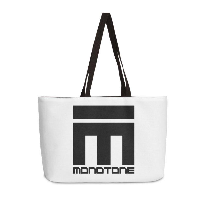 Monotone Logo Black Large Accessories Weekender Bag Bag by Monotone Apparel