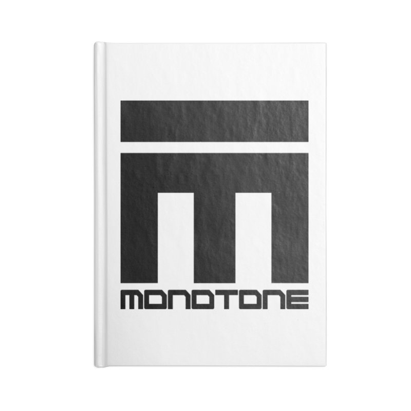 Monotone Logo Black Large Accessories Lined Journal Notebook by Monotone Apparel