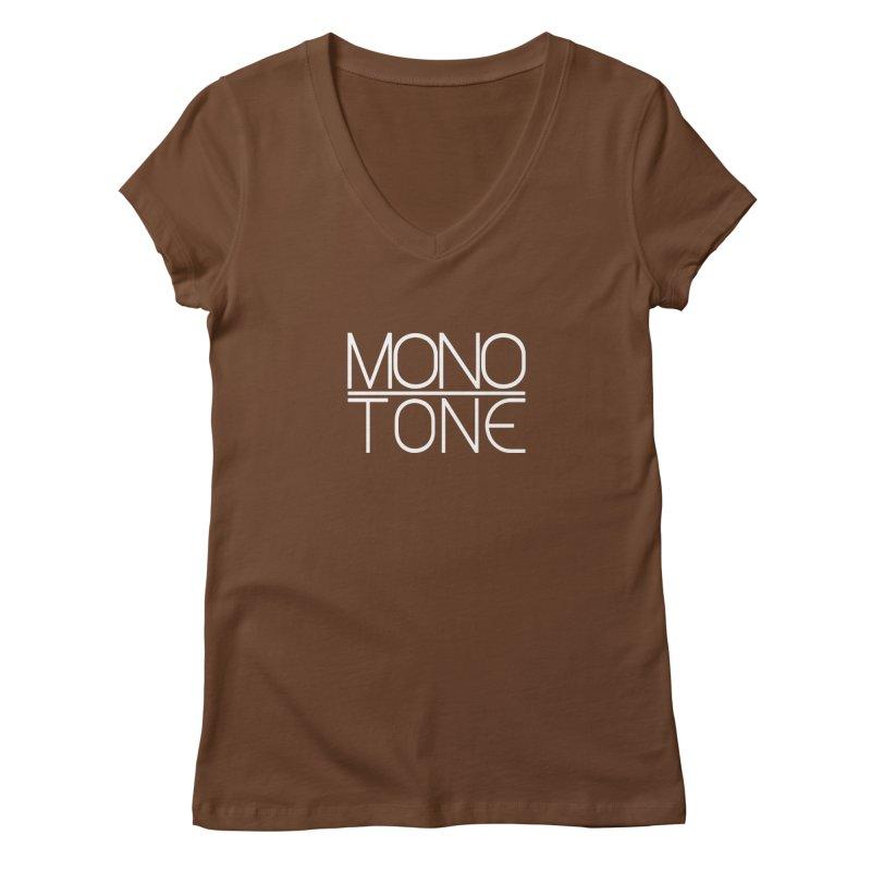 MONO TONE Women's V-Neck by Monotone Apparel