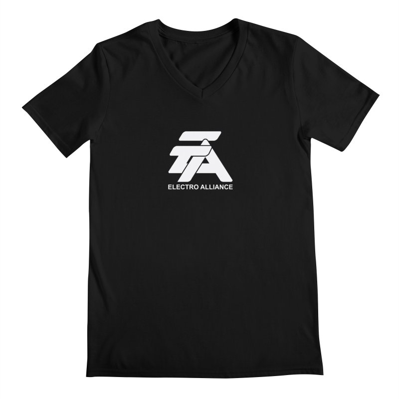 Electro Alliance Retro Men's V-Neck by Monotone Apparel