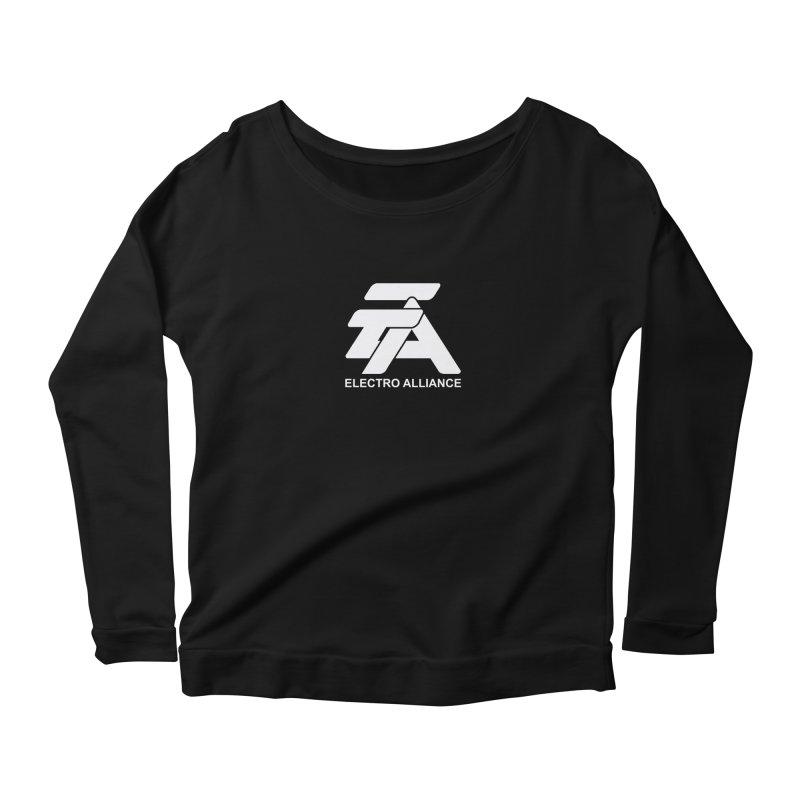 Electro Alliance Retro Women's Scoop Neck Longsleeve T-Shirt by Monotone Apparel