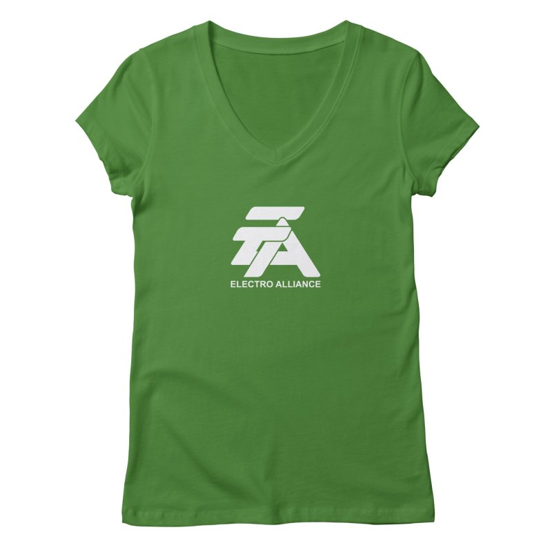 Electro Alliance Retro Women's Regular V-Neck by Monotone Apparel