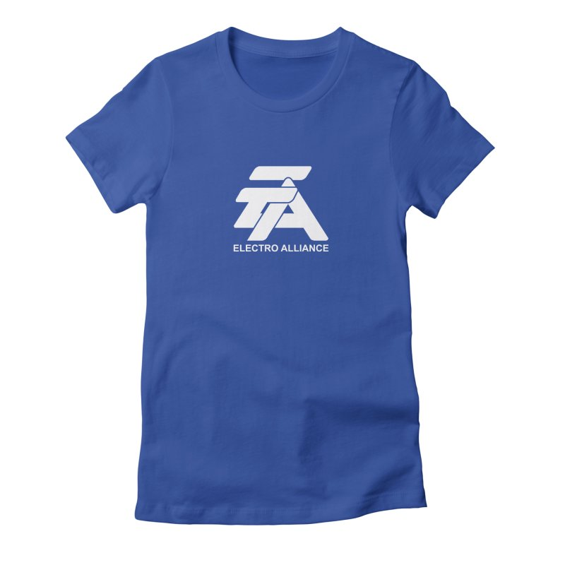 Electro Alliance Retro Women's Fitted T-Shirt by Monotone Apparel