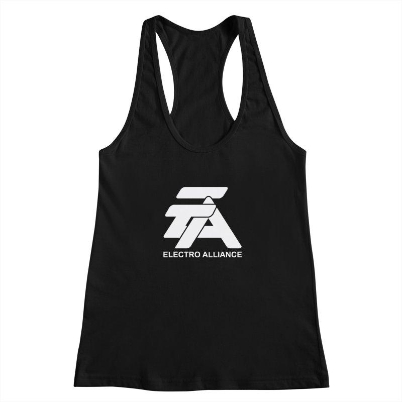 Electro Alliance Retro Women's Racerback Tank by Monotone Apparel