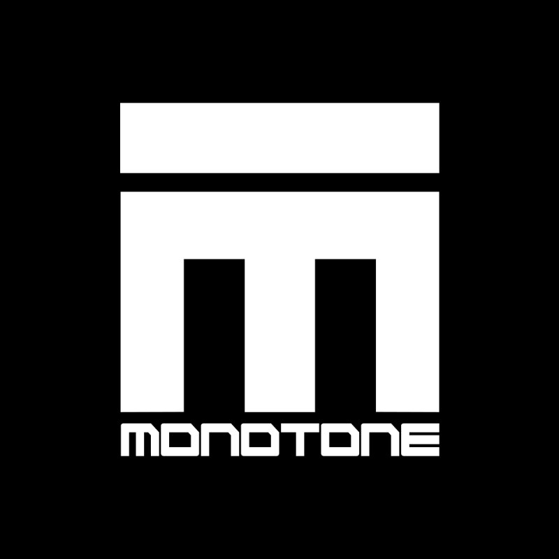 Monotone White Logo Large   by Monotone Apparel