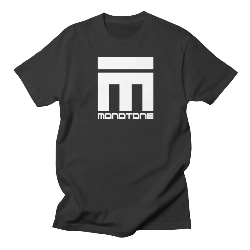 Monotone White Logo Large Men's Regular T-Shirt by Monotone Apparel