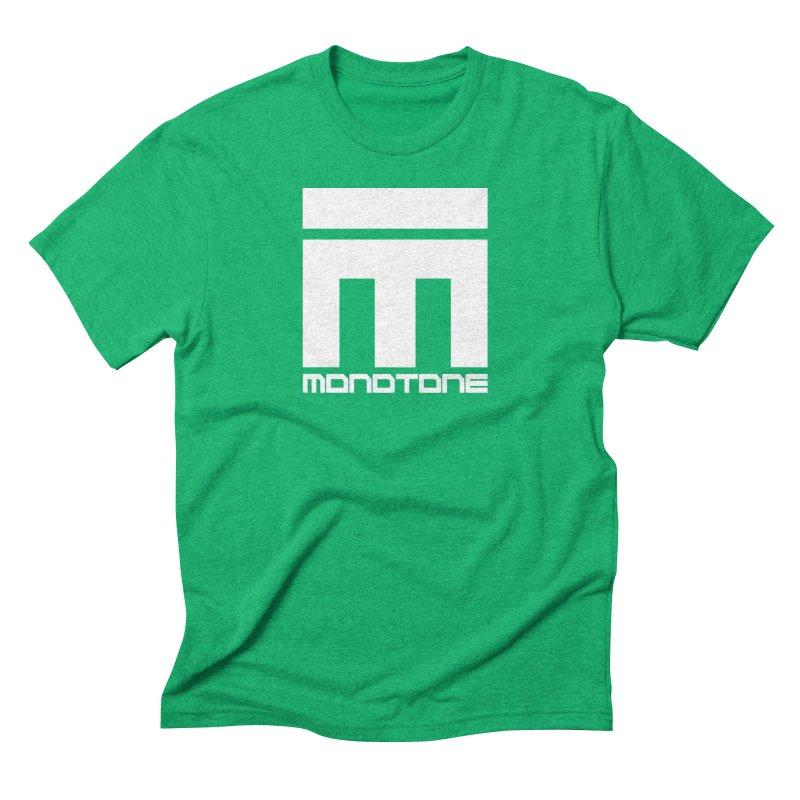 Monotone White Logo Large Men's T-Shirt by Monotone Apparel