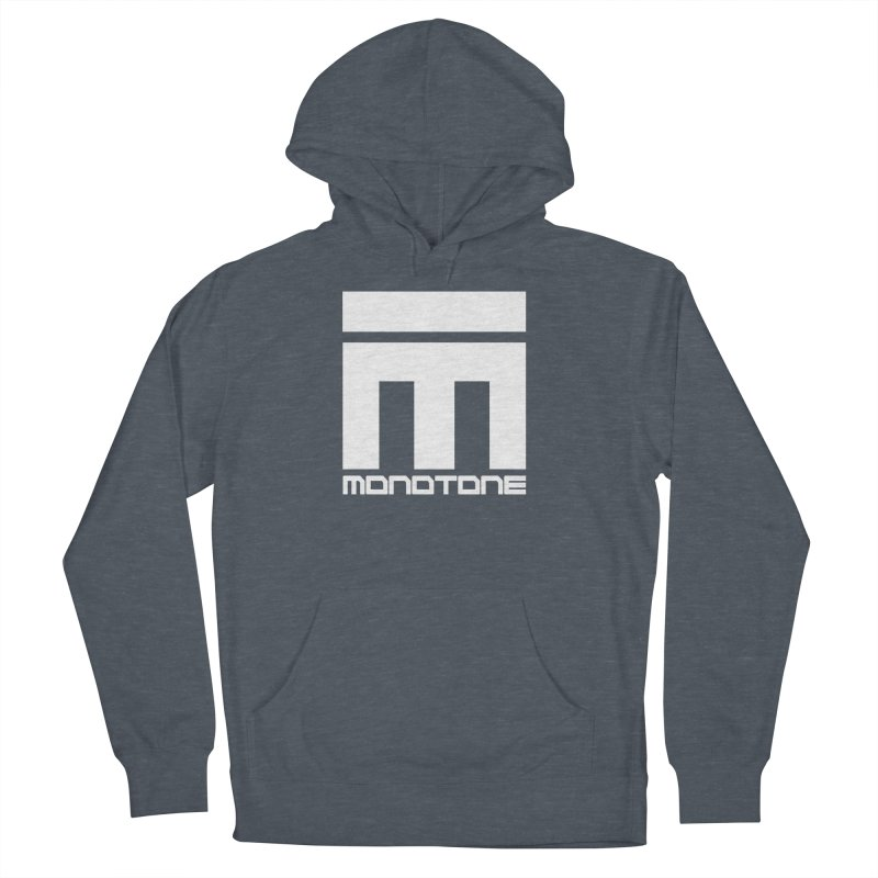 Monotone White Logo Large Women's French Terry Pullover Hoody by Monotone Apparel