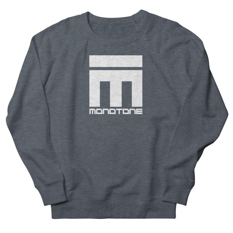 Monotone White Logo Large Women's French Terry Sweatshirt by Monotone Apparel