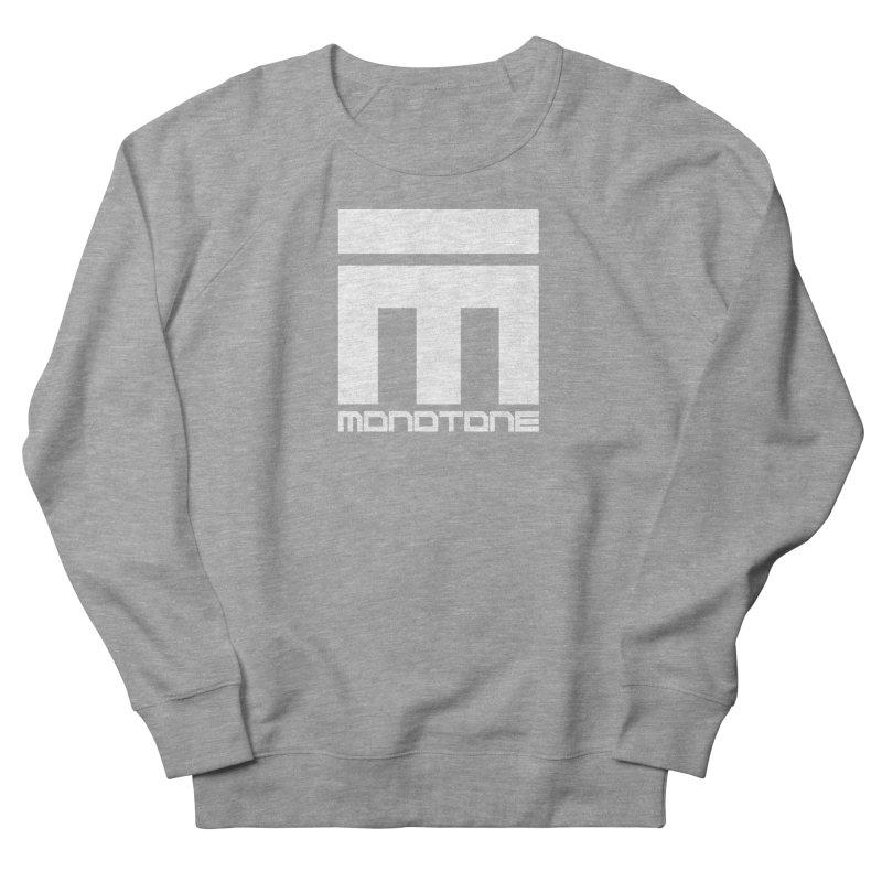Monotone White Logo Large Women's French Terry Sweatshirt by Monotone Apparel