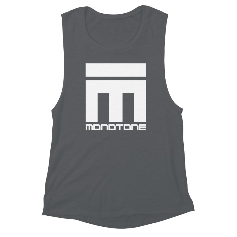 Monotone White Logo Large Women's Muscle Tank by Monotone Apparel
