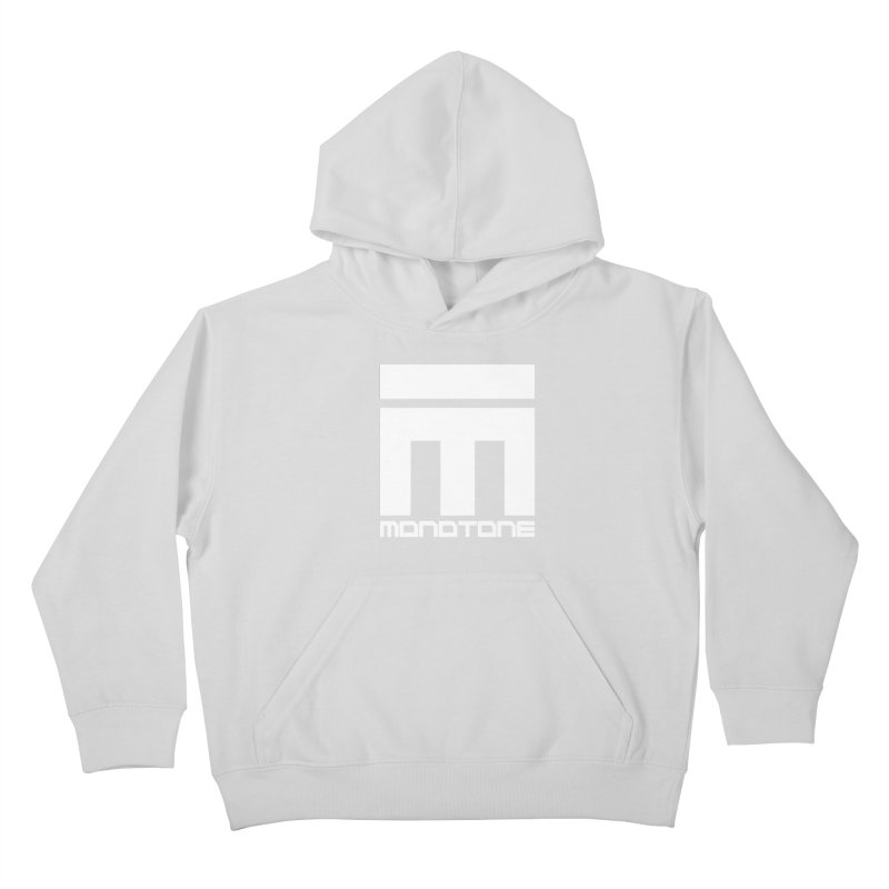 Monotone White Logo Large Kids Pullover Hoody by Monotone Apparel