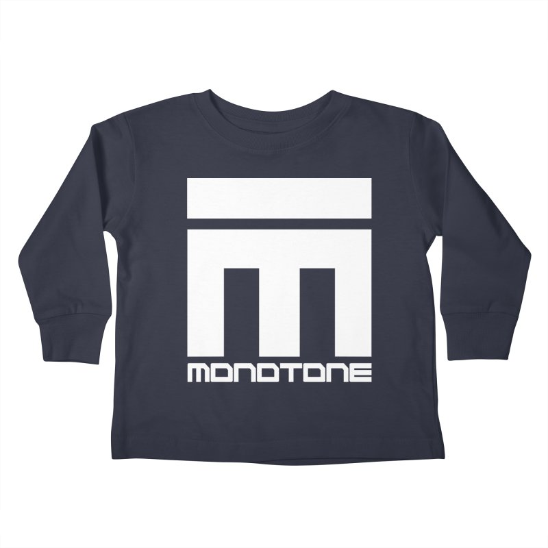 Monotone White Logo Large Kids Toddler Longsleeve T-Shirt by Monotone Apparel