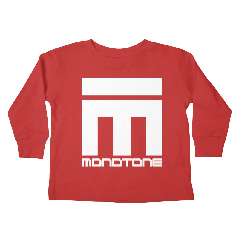 Monotone White Logo Large Kids Toddler Longsleeve T-Shirt by Monotone Apparel