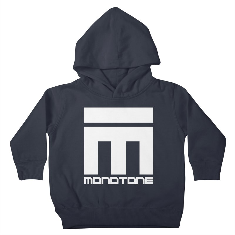 Monotone White Logo Large Kids Toddler Pullover Hoody by Monotone Apparel