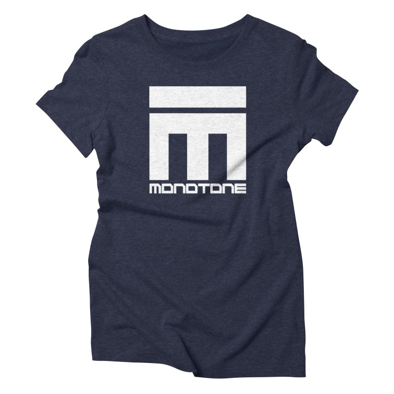 Monotone White Logo Large Women's Triblend T-Shirt by Monotone Apparel