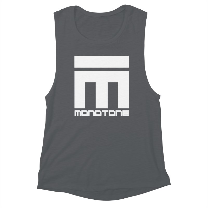Monotone White Logo Large Women's Muscle Tank by Monotone Apparel