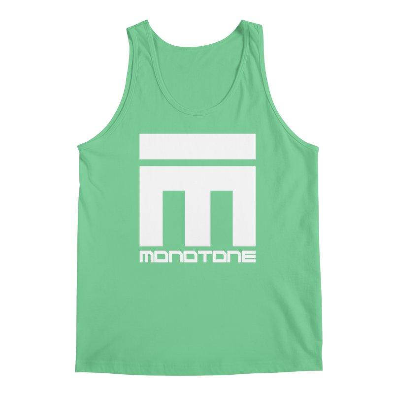 Monotone White Logo Large Men's Regular Tank by Monotone Apparel