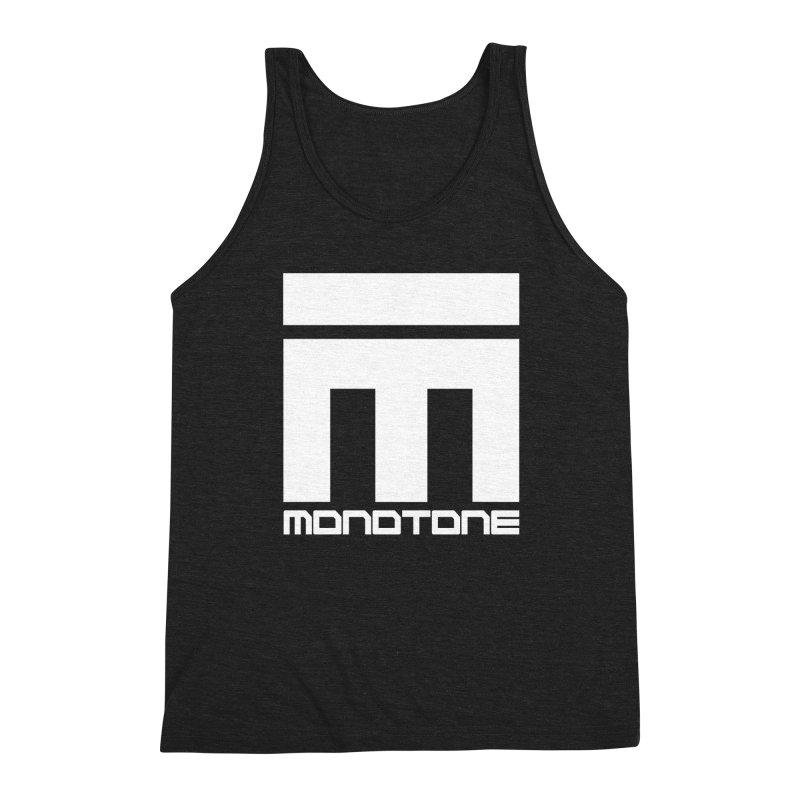Monotone White Logo Large Men's Tank by Monotone Apparel