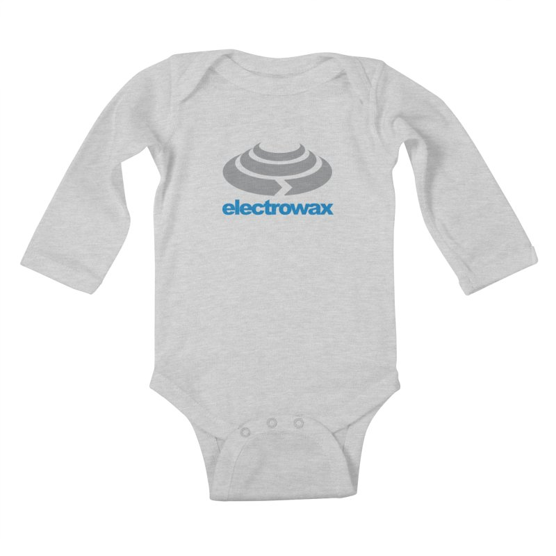 Electrowax Color Logo Kids Baby Longsleeve Bodysuit by Monotone Apparel