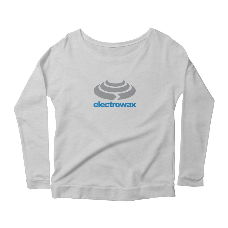 Electrowax Color Logo Women's Scoop Neck Longsleeve T-Shirt by Monotone Apparel