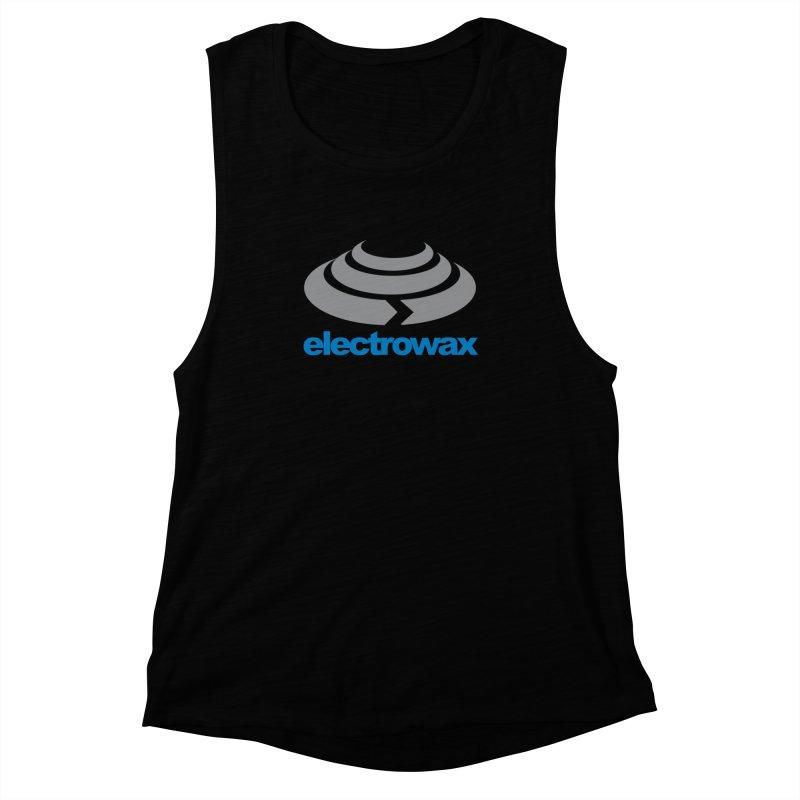 Electrowax Color Logo Women's Muscle Tank by Monotone Apparel