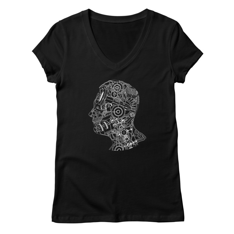 Futureshock Women's V-Neck by Monotone Apparel
