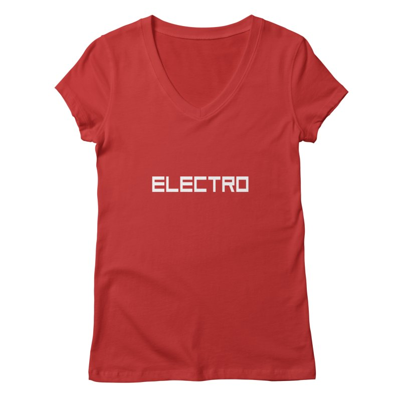 ELECTRO Women's V-Neck by Monotone Apparel