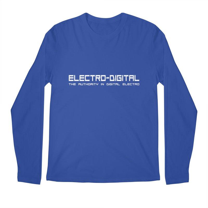 Electro-Digital Retro Men's Longsleeve T-Shirt by Monotone Apparel