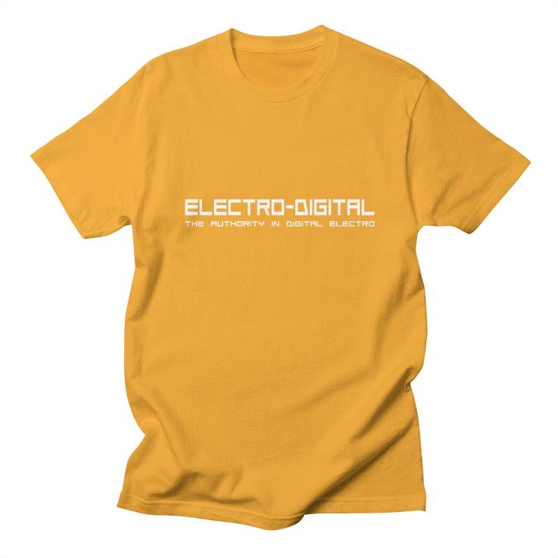 Electro-Digital Retro Men's T-Shirt by Monotone Apparel