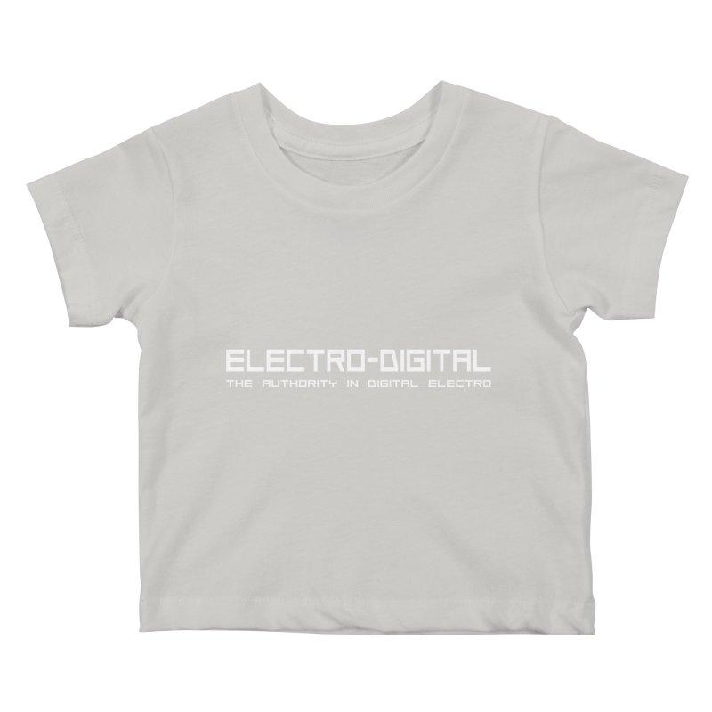 Electro-Digital Retro Kids Baby T-Shirt by Monotone Apparel
