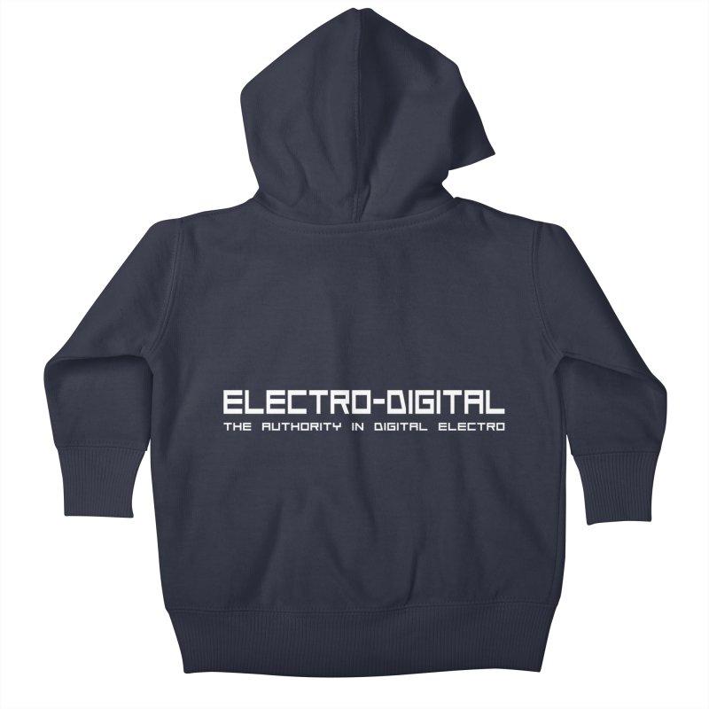 Electro-Digital Retro Kids Baby Zip-Up Hoody by Monotone Apparel