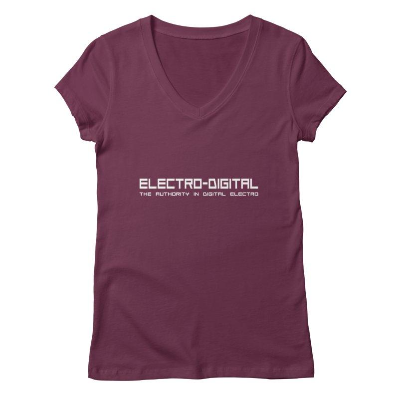 Electro-Digital Retro Women's V-Neck by Monotone Apparel