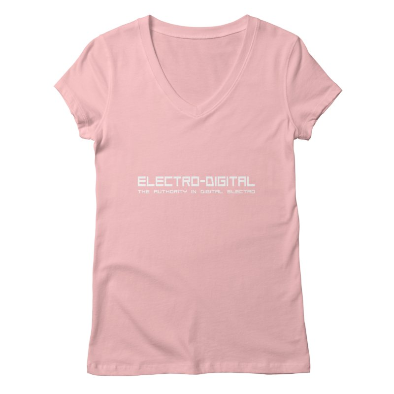 Electro-Digital Retro Women's V-Neck by Monotone Apparel