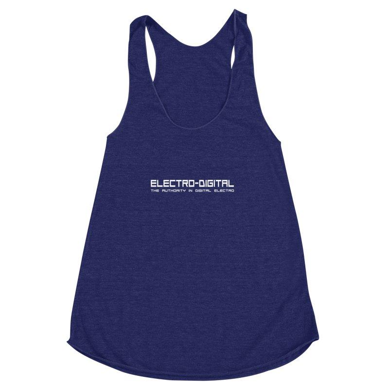 Electro-Digital Retro Women's Racerback Triblend Tank by Monotone Apparel