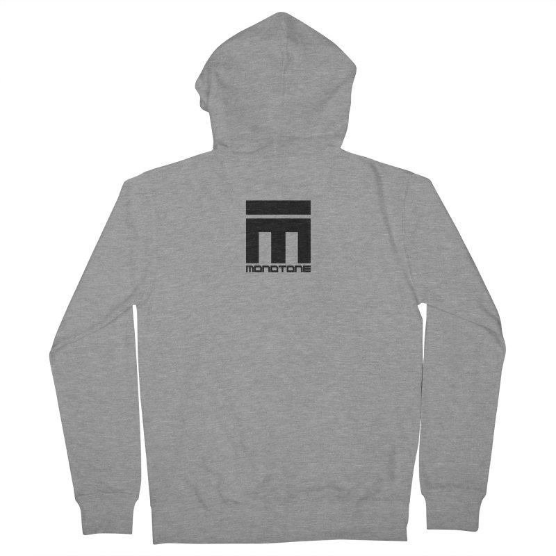 Monotone Logo  Men's Zip-Up Hoody by Monotone Apparel