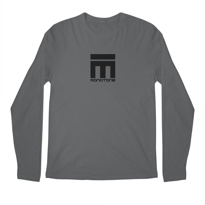 Monotone Logo  Men's Longsleeve T-Shirt by Monotone Apparel