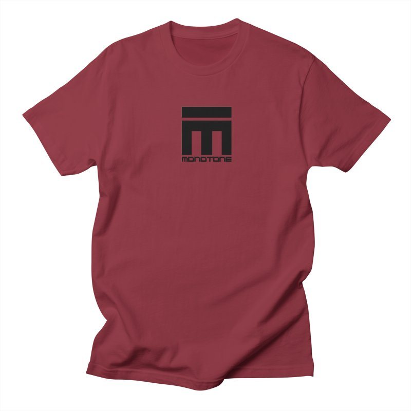 Monotone Logo  in Men's T-Shirt Scarlet Red by Monotone Apparel
