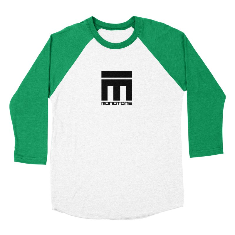 Monotone Logo  Women's Baseball Triblend T-Shirt by Monotone Apparel