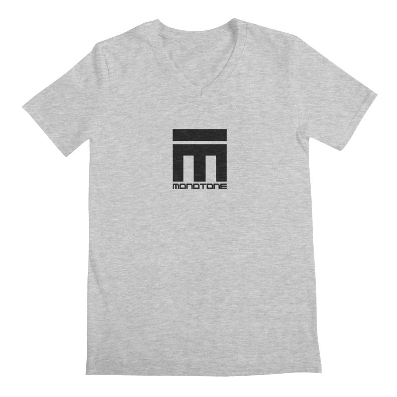 Monotone Logo  Men's V-Neck by Monotone Apparel