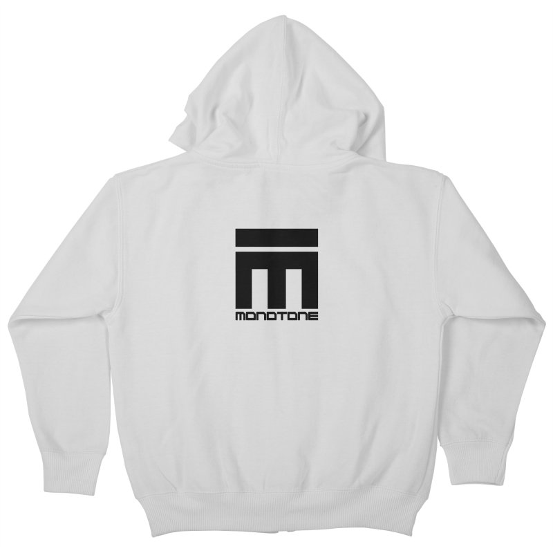 Monotone Logo  Kids Zip-Up Hoody by Monotone Apparel