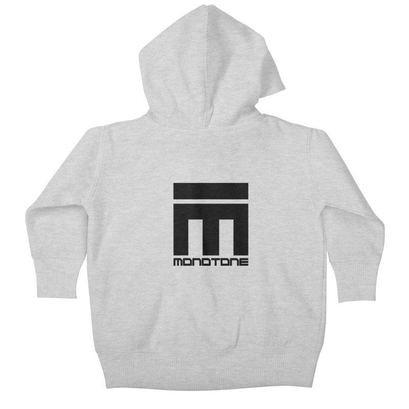 Monotone Logo  Kids Baby Zip-Up Hoody by Monotone Apparel