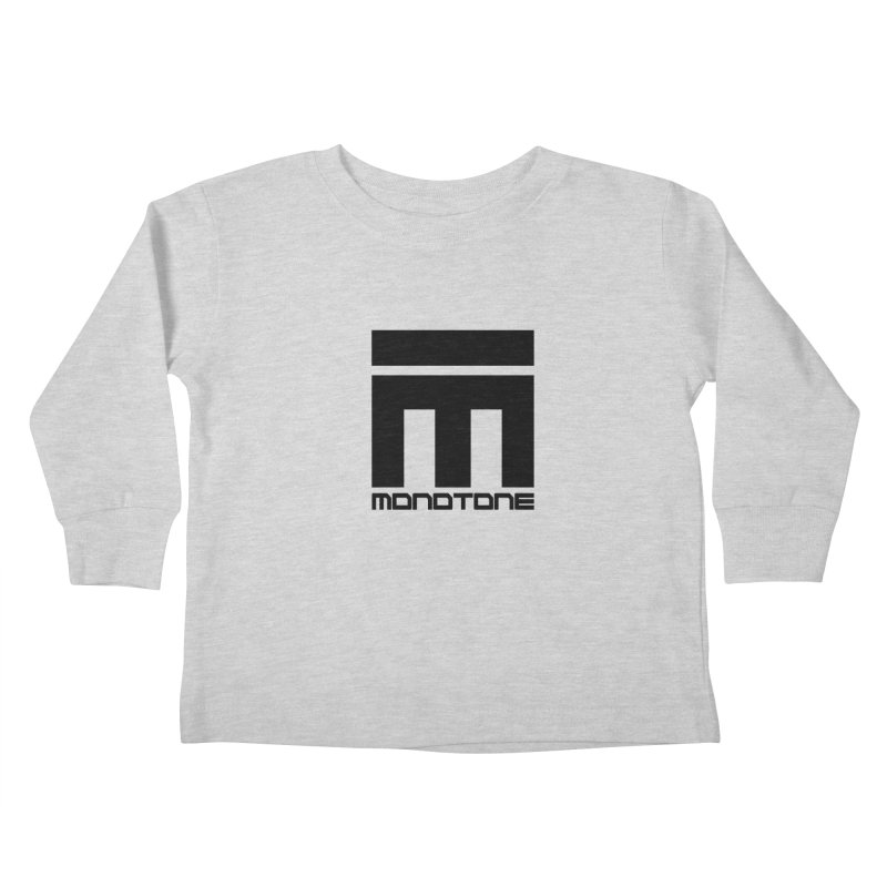 Monotone Logo  Kids Toddler Longsleeve T-Shirt by Monotone Apparel
