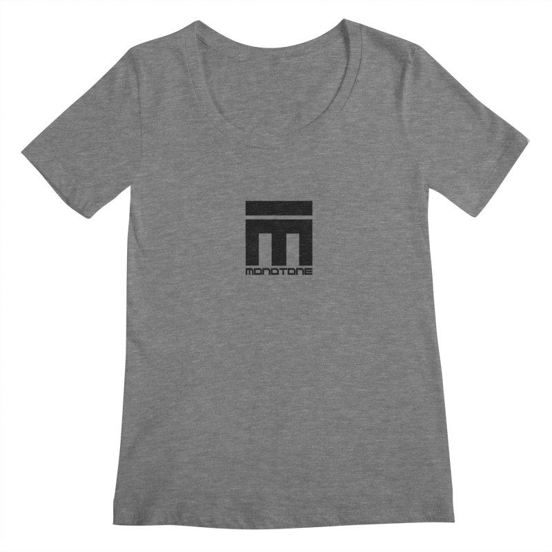 Monotone Logo  Women's Regular Scoop Neck by Monotone Apparel