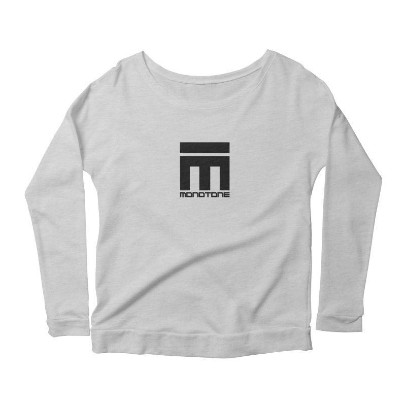 Monotone Logo  Women's Scoop Neck Longsleeve T-Shirt by Monotone Apparel