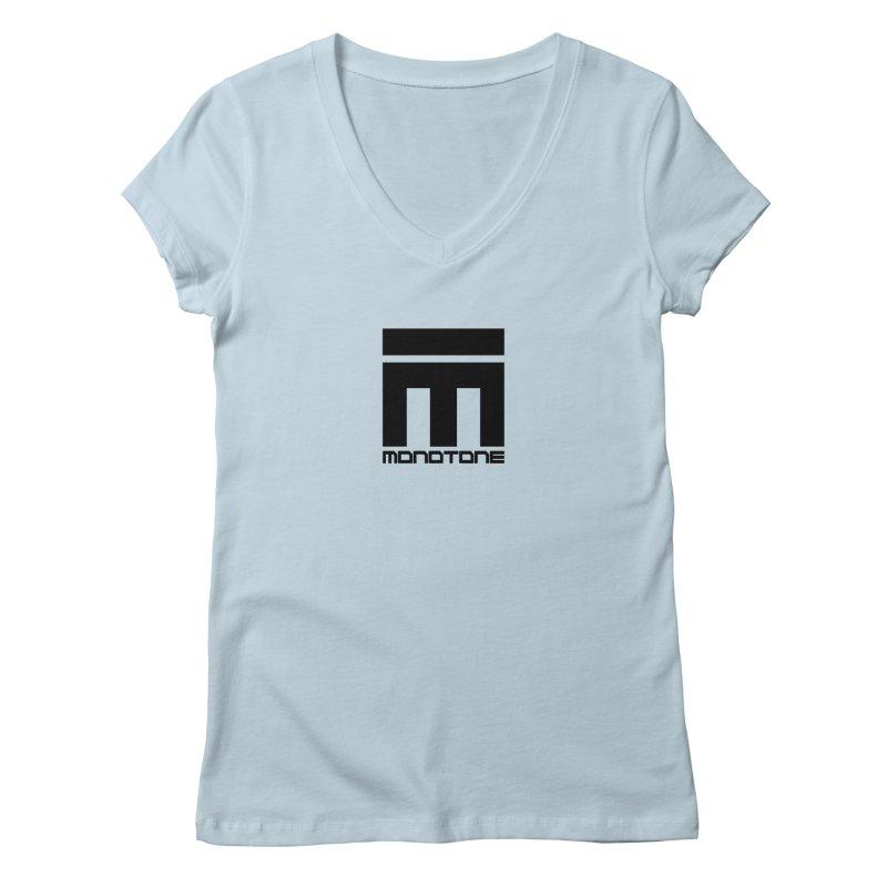 Monotone Logo  Women's Regular V-Neck by Monotone Apparel