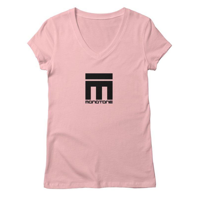 Monotone Logo  Women's V-Neck by Monotone Apparel